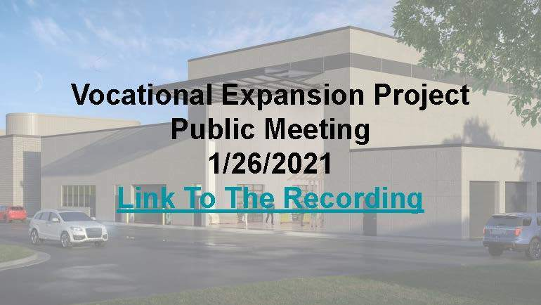 Fairmont Area Schools Vocational Expansion Project Recording Link