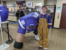 High School Shows Their Purple and Gold Side