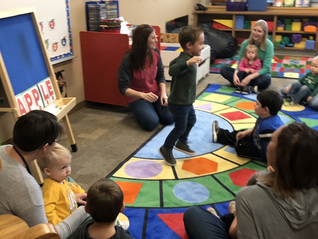Circle time can sure put a bounce in one's step 😊